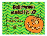 Halloween Match It Up {An ABC Matching Game}