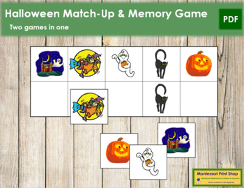 Halloween Match-Up and Memory