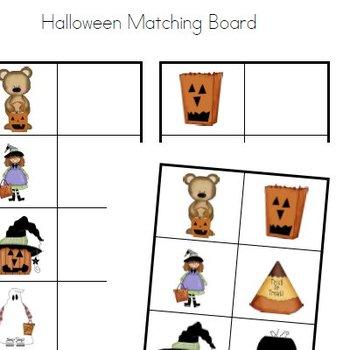 Halloween Matching Board - Preschool Kindergarten