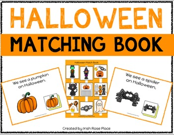 Halloween Matching Book (Adapted Book)