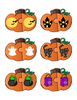 Halloween Matching Game or Center Activity