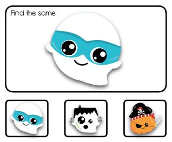 Halloween Matching: Interactive PDF
