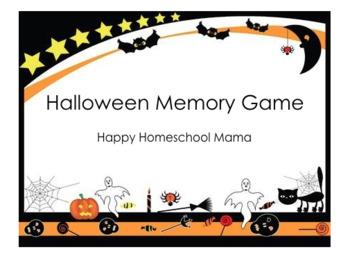 Halloween Matching Memory Game