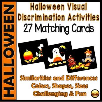 Halloween Matching Visual Discrimination Activities Set 4