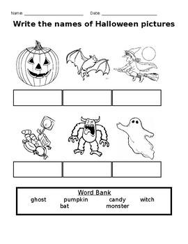 Halloween Matching Worksheet Set