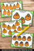 Halloween Math Activities & Games with Counting 1-10 Pumpkins Task Cards SCOOT
