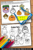Halloween Math Activities Coloring & Counting Worksheets Kindergarten