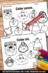Halloween Math Kindergarten, Halloween Coloring Pages, Counting Worksheets