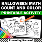 Halloween Counting Worksheets, Halloween Coloring Pages