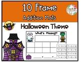 Halloween Math- 10 Frame Addition Mats