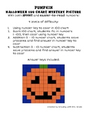 Halloween Math 100 Chart Addition Subtraction Mystery Pict