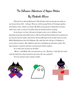 Halloween Math Word Problems Division