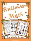 Halloween Activities - Halloween Math for Middle School