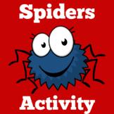 Kindergarten Math Center Games | Spiders
