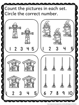 Halloween Math - Counting Numbers - Monsters