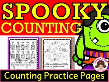 Halloween Activities Counting Numbers