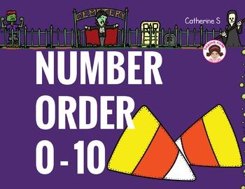 Halloween Math Number Order
