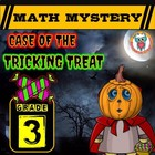 Halloween Math Activity: Math Mystery - Case of The Tricking Treat GRADE 3