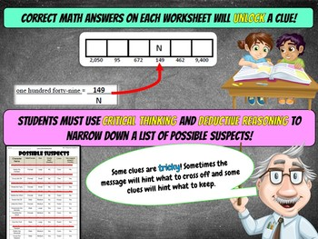 Halloween Math Activity: Math Mystery - Case of The Tricking Treat