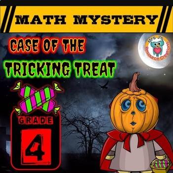 4th Grade Halloween Math Activity, Halloween Math Mystery Review