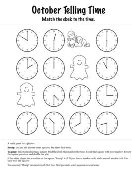 Halloween Math 1st Grade+ Bump Games Bundle