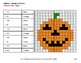 Halloween Math: 2-Digit Addition - Color-By-Number Mystery Pictures