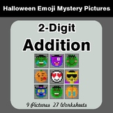 Halloween Math: 2-Digit Addition - Color-By-Number Math Mystery Pictures