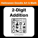 Halloween Math: 2-Digit Addition - Doodle Art & Math