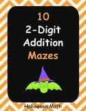 Halloween Math: 2-Digit Addition Maze