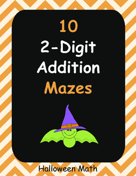 Halloween Math: 2-Digit Addition Maze
