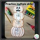 Halloween Math - 2 Digit Multiplication, Addition, Subtraction