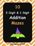 Halloween Math: 2-Digit and 1-Digit Addition Maze
