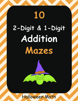 Halloween Math: 2-Digit and 1-Digit Addition Maze