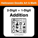 Halloween Math: 2-Digit by 1-Digit Addition - Doodle Art & Math