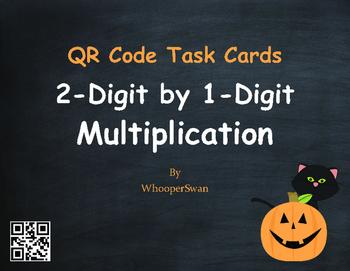 Halloween Math: 2-Digit by 1-Digit Multiplication QR Code
