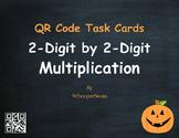 Halloween Math: 2-Digit by 2-Digit Multiplication QR Code Task Cards
