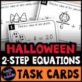 Halloween Math 2-Step Equations Task Cards Activity
