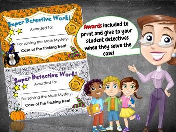 6th Grade Halloween Activity: Halloween Math Mystery- Case of The Tricking Treat