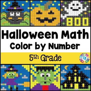 *5th Grade Halloween Activities: 5th Grade Halloween Math (Color by Number)