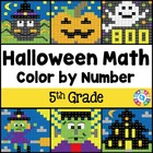 5th Grade Halloween Activities: 5th Grade Halloween Math (Color by Number)
