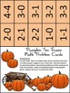 Halloween Math Activities: Pumpkin Halloween Ten Frames Math Center Activity