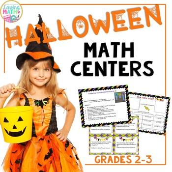 Halloween Math Center Activities - Word Problems, Arrays, Addition, Subtraction