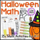 Halloween Math Games and Activities for Kindergarten and F