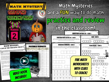 2nd Halloween Activity : Halloween Math Mystery - Tricking Treat