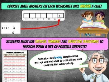 2nd Grade Halloween Activity : Halloween Math Mystery - Tricking Treat
