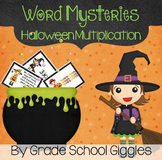 Halloween Multiplication Word Problems Game