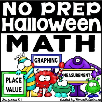 Halloween Math Printables for K & 1