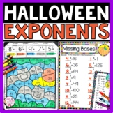 Halloween Math Exponents Activities