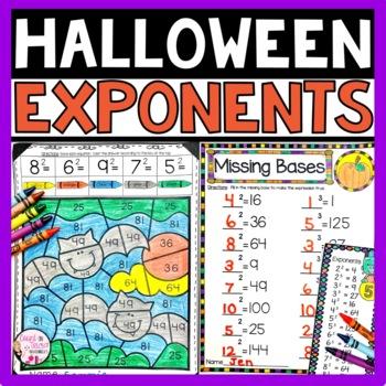 Halloween Math Exponents Activities