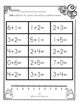Halloween Addition to 10 * Addition to 10 Worksheets * Halloween Math